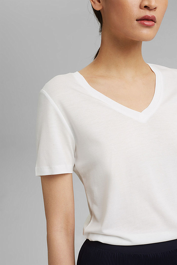 T-Shirt aus Lyocell (TENCEL™), OFF WHITE, detail image number 2