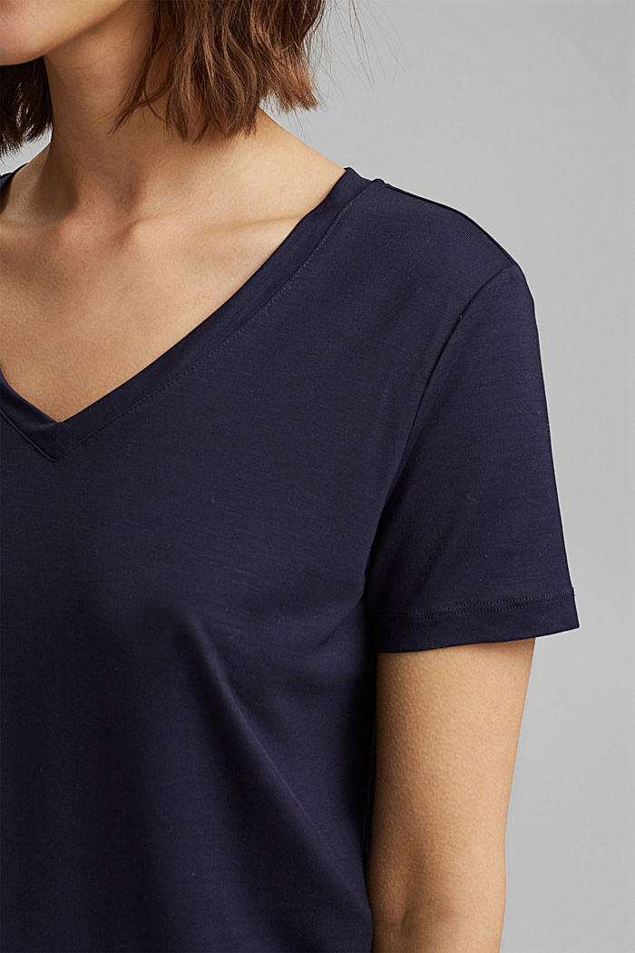 (TENCEL™) lyocell T-shirt, NAVY, detail image number 2