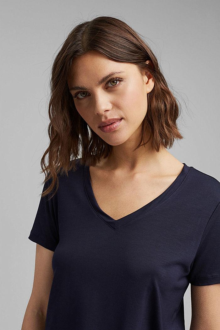 (TENCEL™) lyocell T-shirt, NAVY, detail image number 5