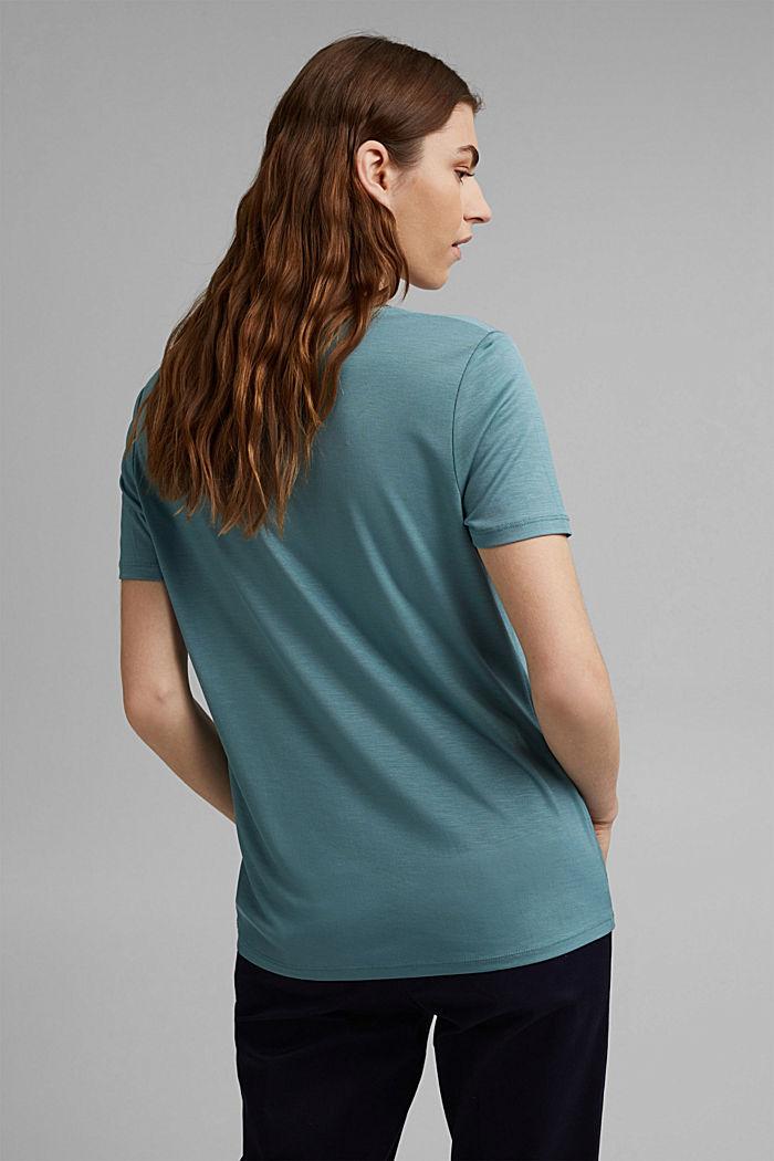 (TENCEL™) lyocell T-shirt, DARK TURQUOISE, detail image number 3