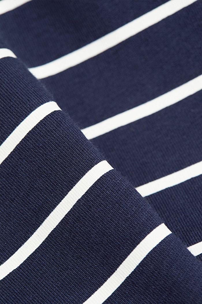 T-shirt med striber og guldfarvet print, NAVY, detail image number 4