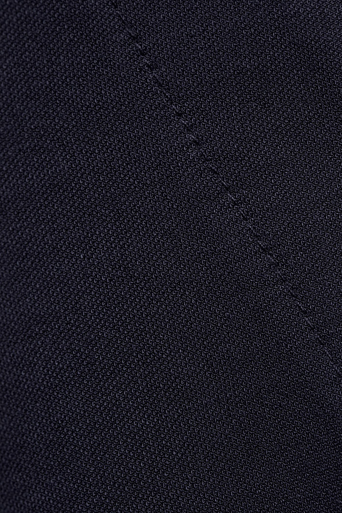 Jumpsuit with a wide leg and piqué texture, NAVY, detail image number 4