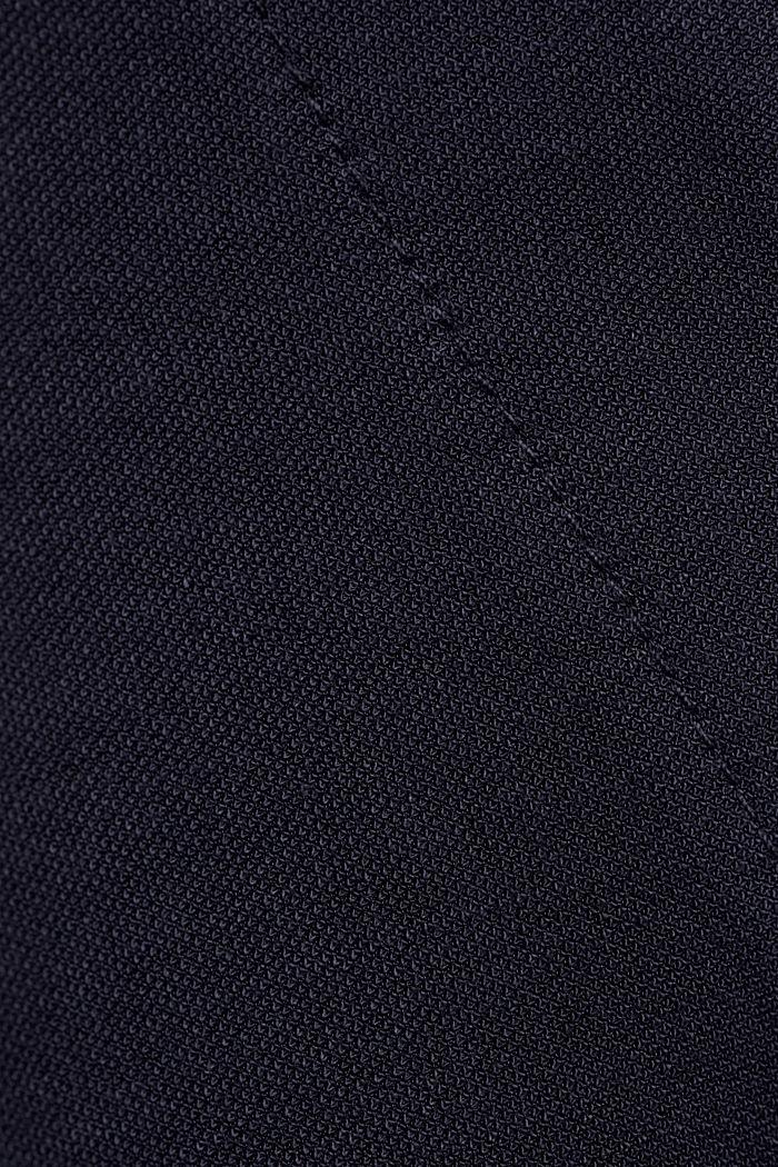 Jumpsuit mit weitem Bein und Piqué-Struktur, NAVY, detail image number 4