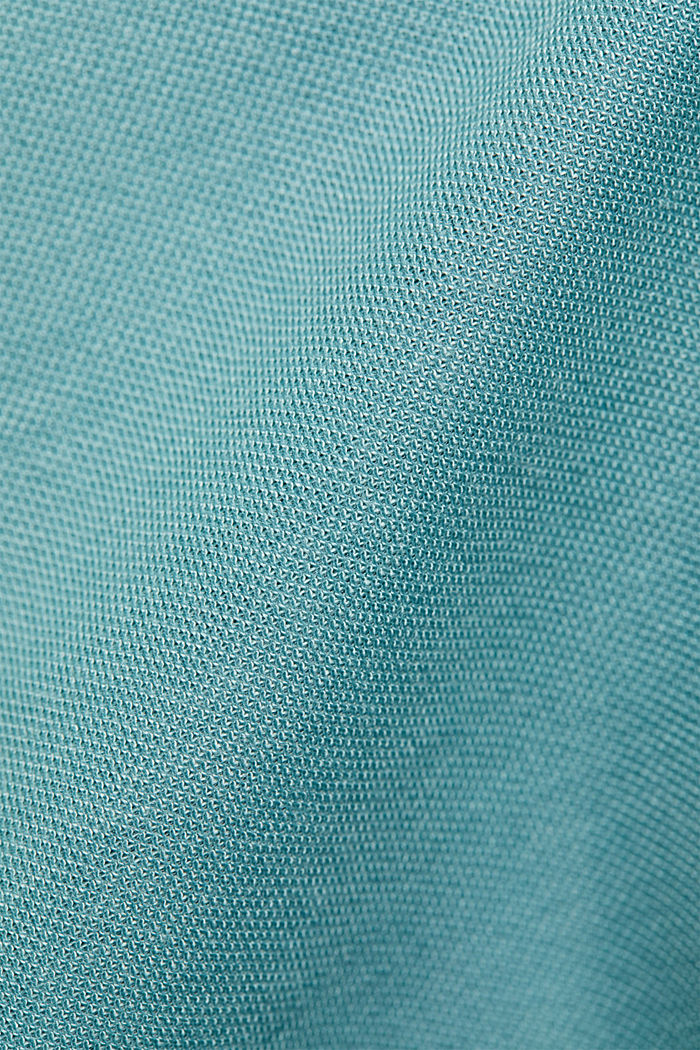 Jumpsuit with a wide leg and piqué texture, DARK TURQUOISE, detail image number 4