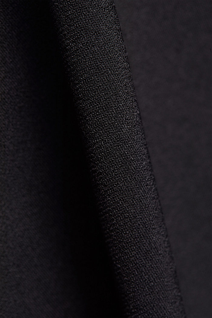 Recycled: jersey jumpsuit with a wide leg, BLACK, detail image number 4