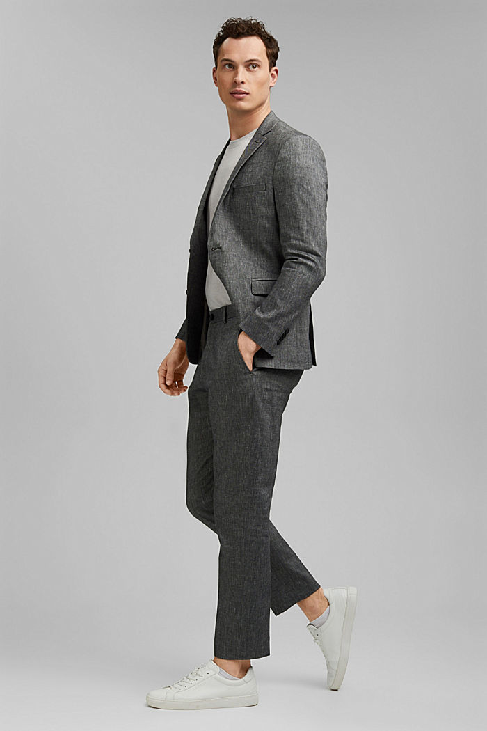 Trousers made of an organic linen blend