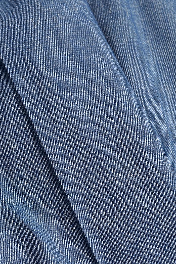 Hose aus Bio-Leinen-Mix, BLUE, detail image number 5