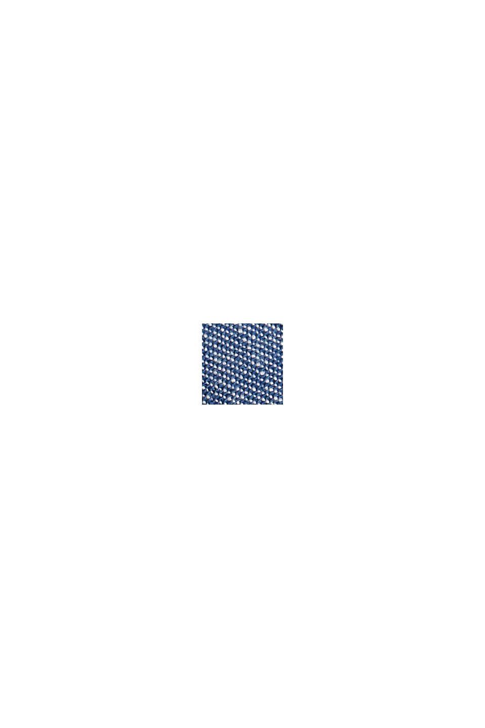 Broek van een materiaalmix met biologisch linnen, BLUE, swatch