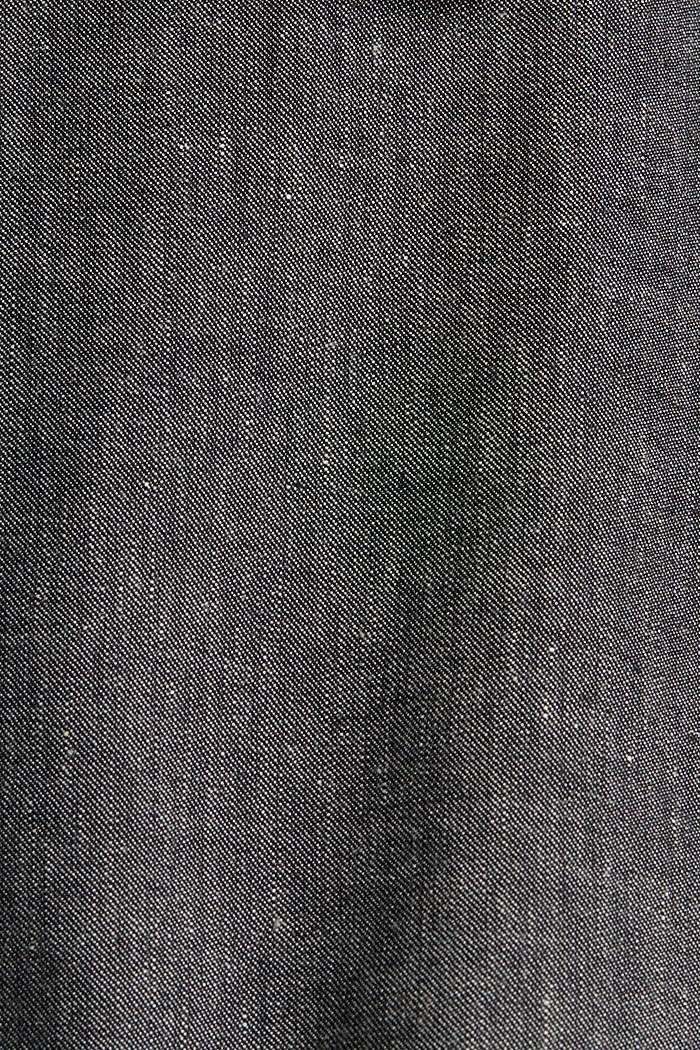 Bio-Leinen-Mix: fein strukturiertes Sakko, BLACK, detail image number 4