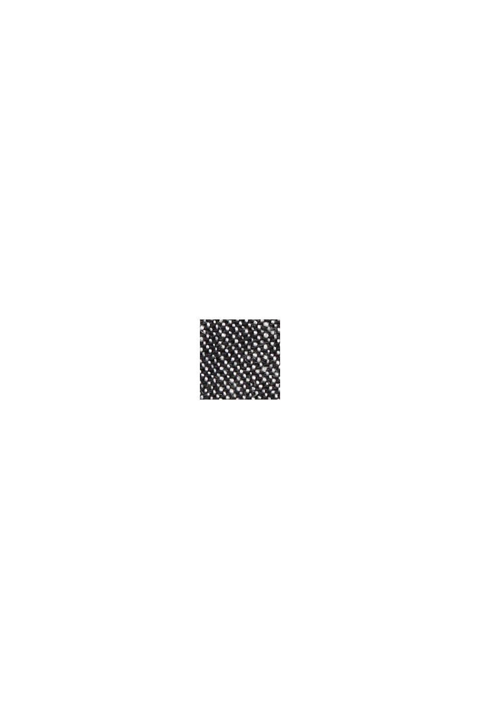 Mix van biologisch linnen: fijn gestructureerd colbert, BLACK, swatch