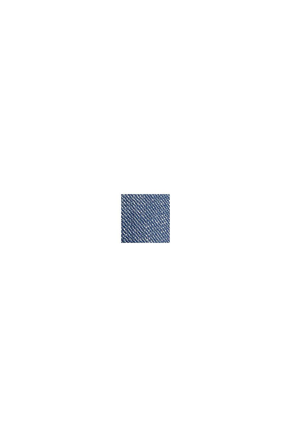 Mix van biologisch linnen: fijn gestructureerd colbert, BLUE, swatch