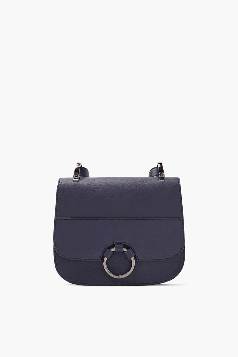 Shoulder bag in imitation leather with distinctive metal details