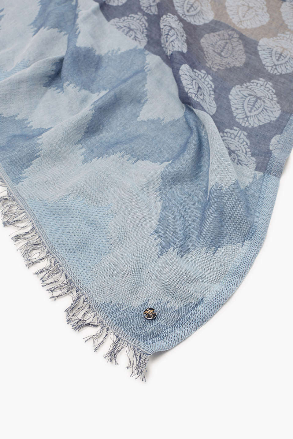 Scarf with jacquard pattern, cotton blend