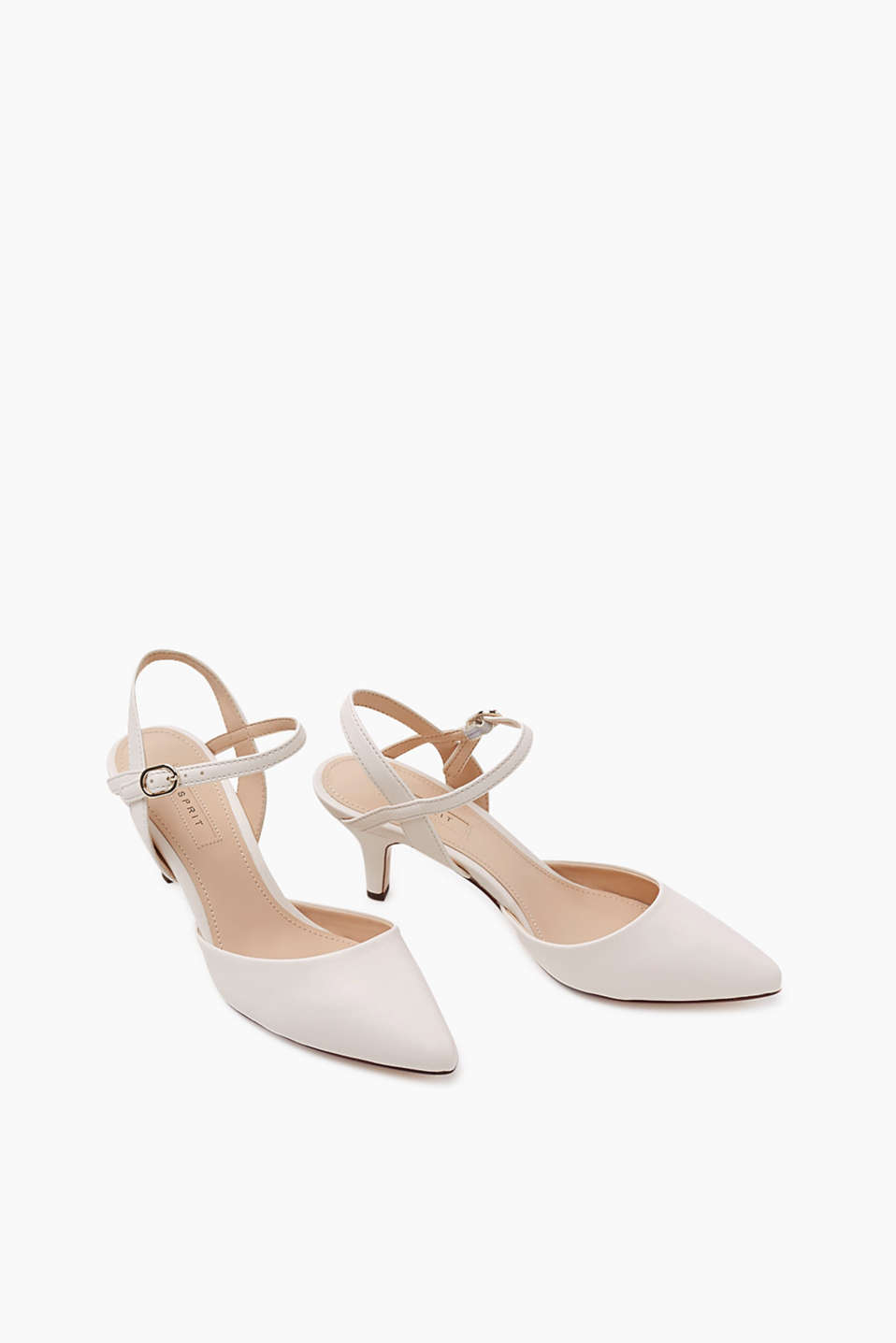 Pointed court shoes with slingback straps