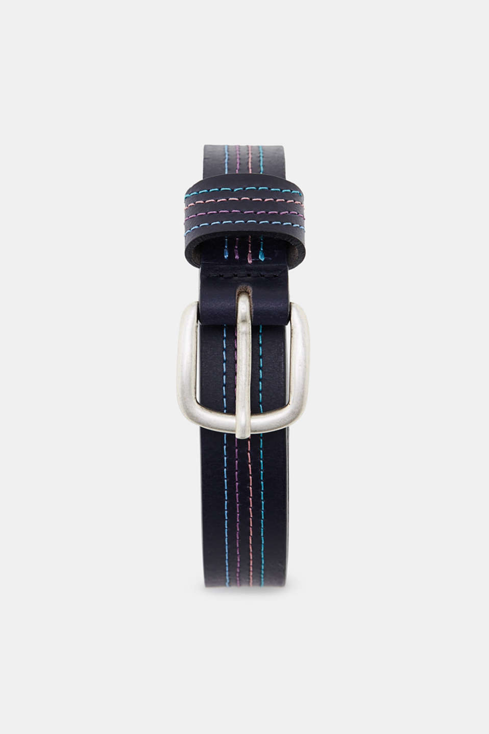 edc - Buffalo leather belt with embroidery