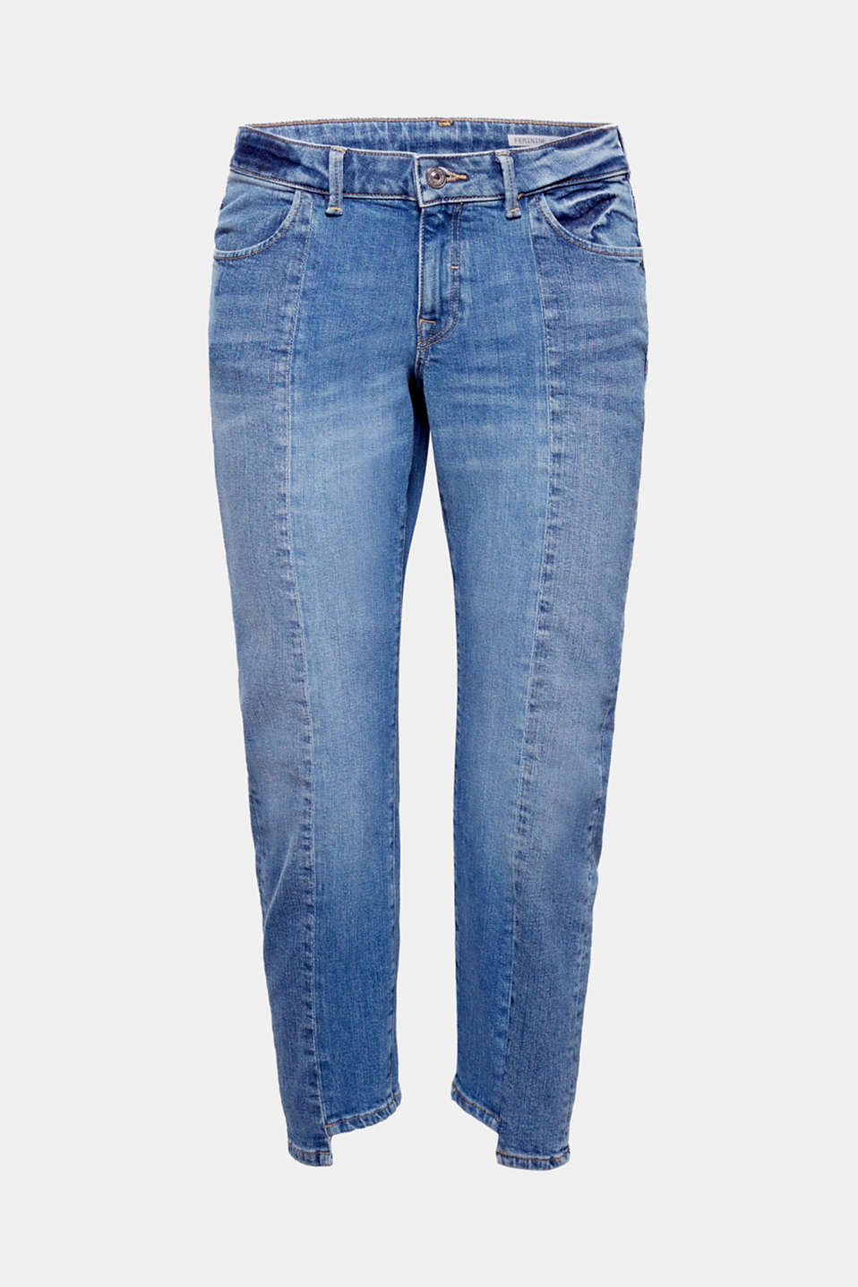 These stretch jeans with high-low hems and zips throw the spotlight on pretty ankles!