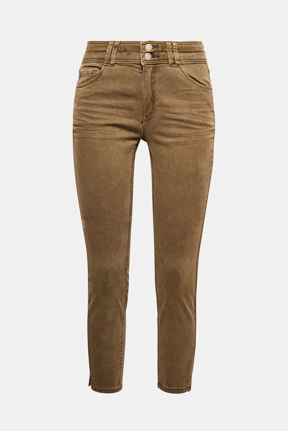 These stretchy cotton trousers in a trendy ankle length are a fantastic basic for any look.