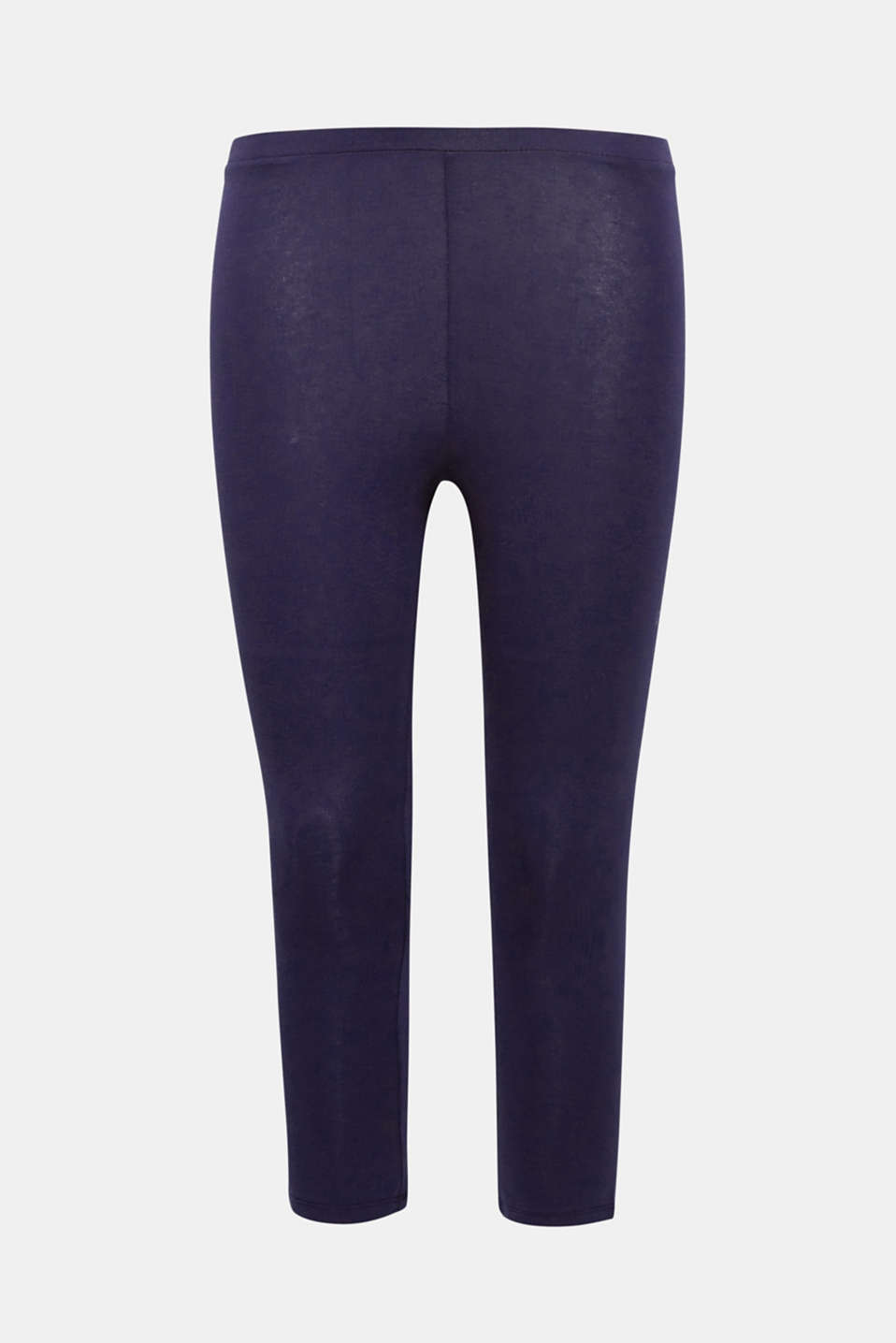 These 3/4 cotton leggings with added stretch for comfort are an indispensable basic.