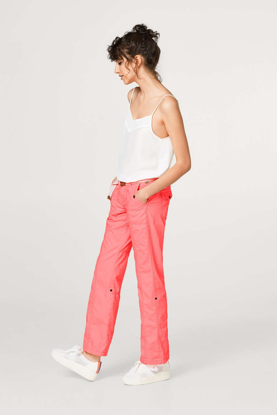 PLAY turn-up cotton trousers