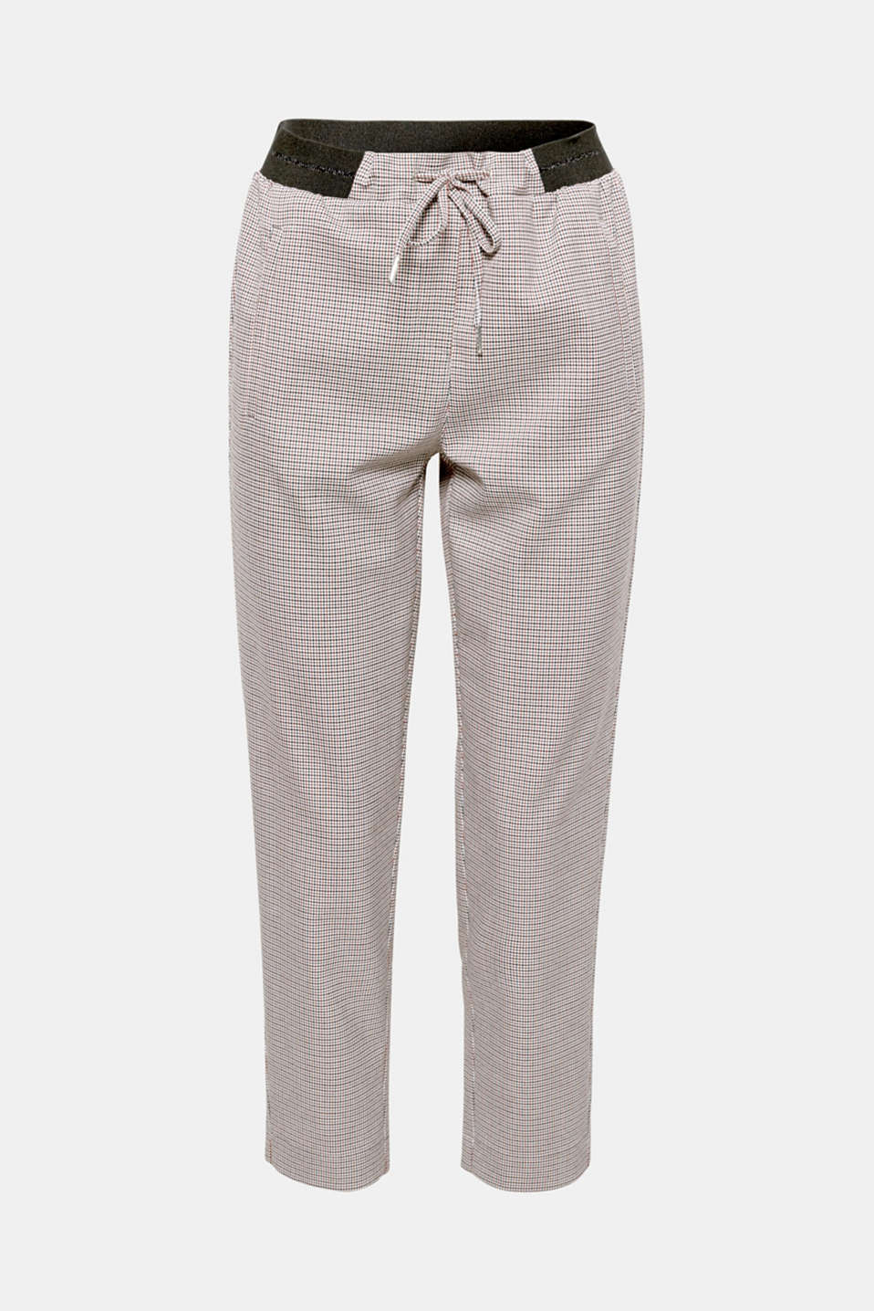 These cropped tracksuit bottoms with a classic houndstooth pattern and added stretch for comfort exude smart casualness.