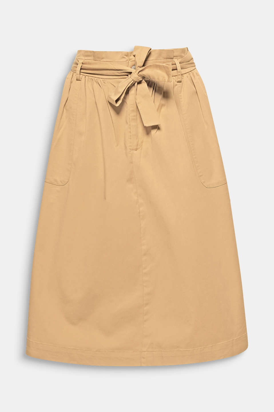 Everyday favourite with a super fashionable twist:  this A-line skirt wows with snug twill fabric and a pleated paperbag waistband.