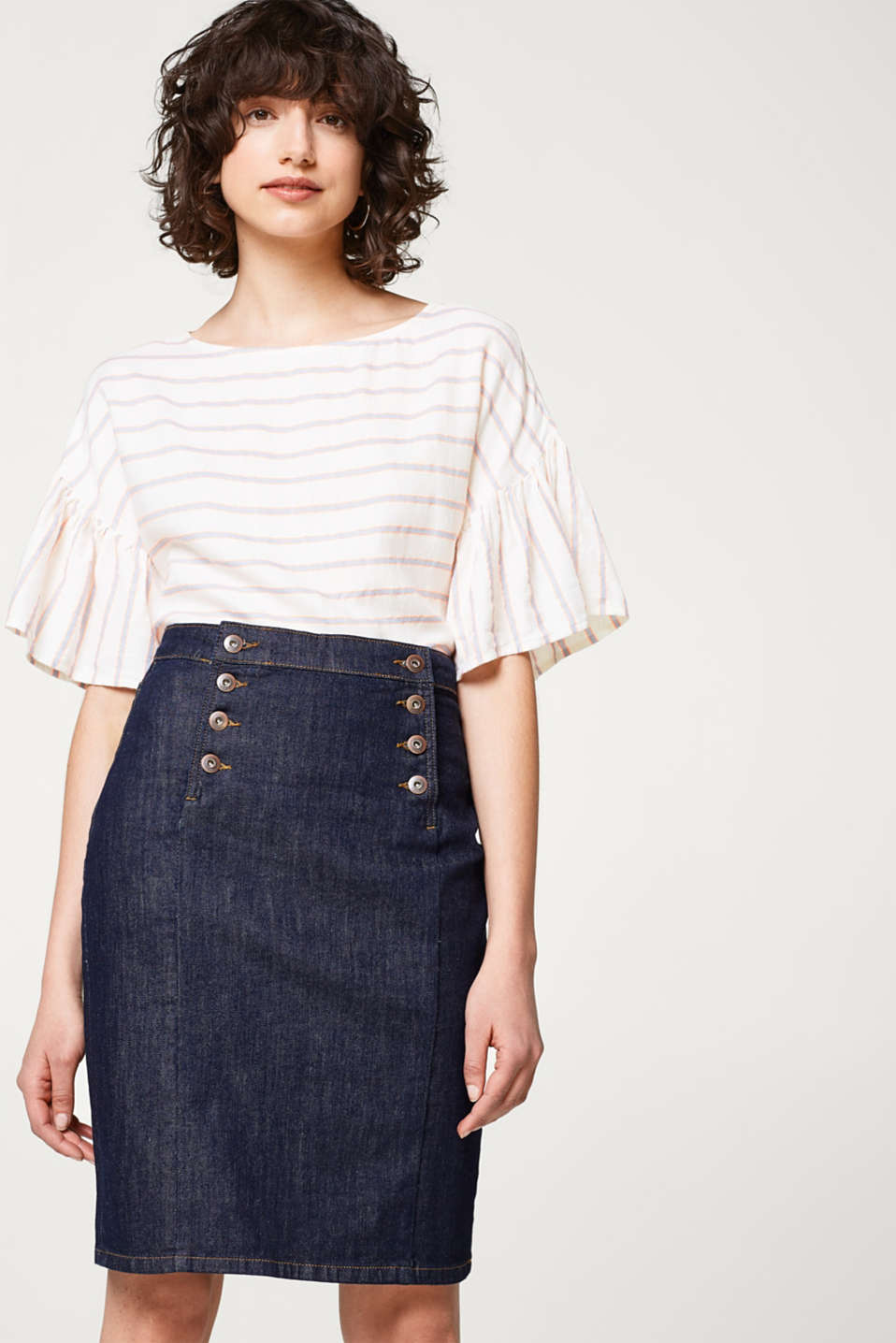 edc - Denim skirt with organic cotton