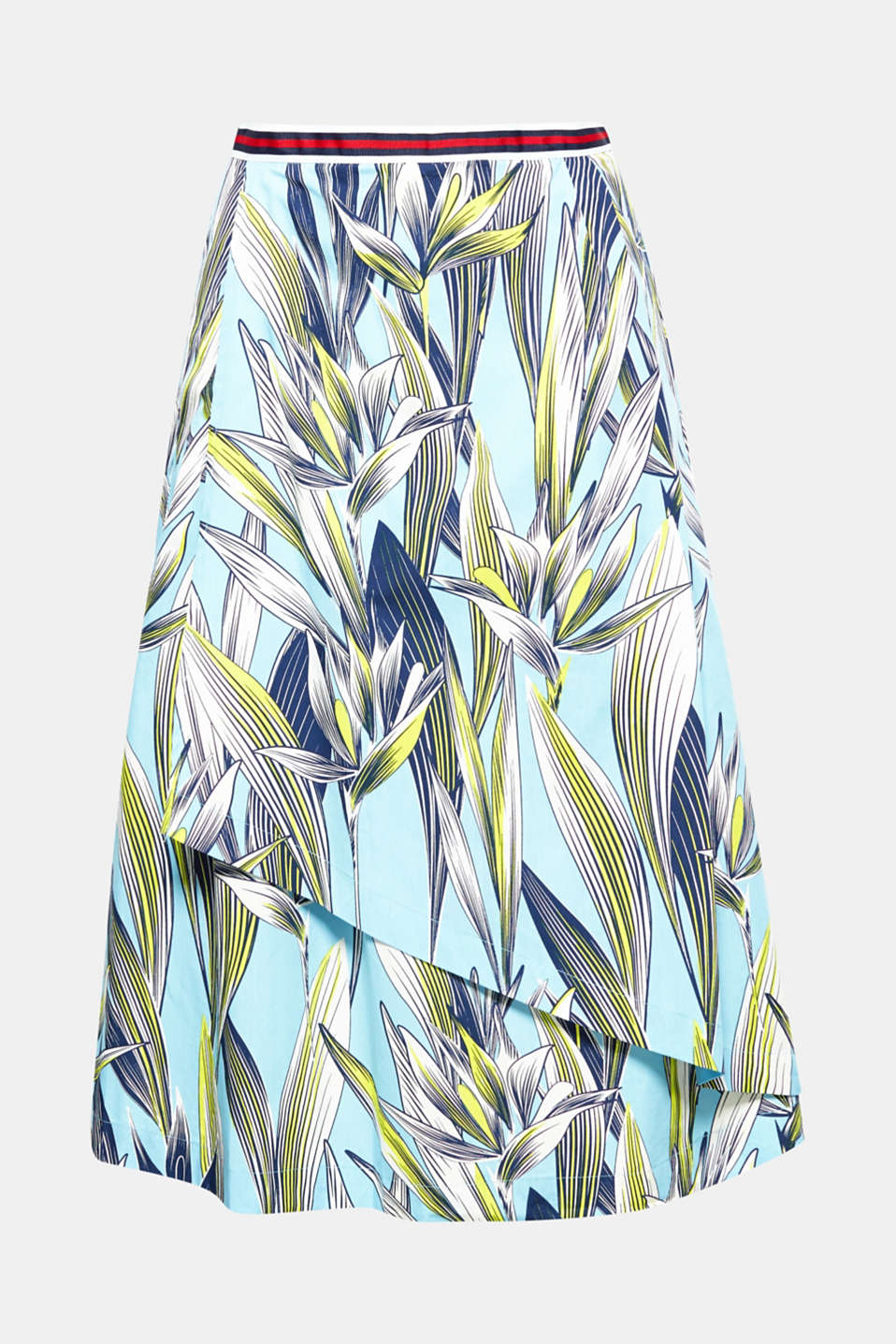 A breath of fresh air: This slightly flared skirt in pure cotton with a grass pattern is the perfect summer piece!