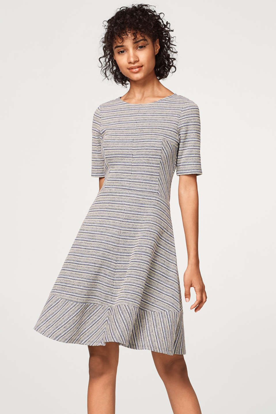 edc - A-line dress with patterned stripes