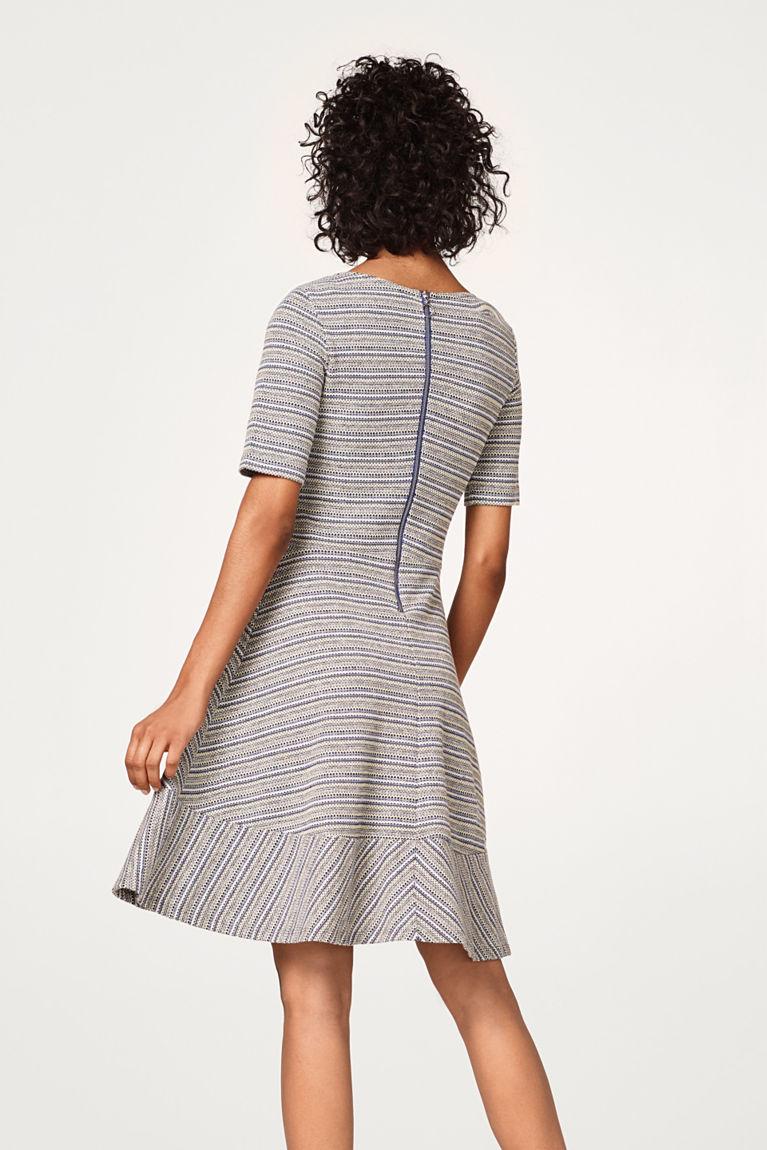 A-Linie Kleid mit Muster-Streifen