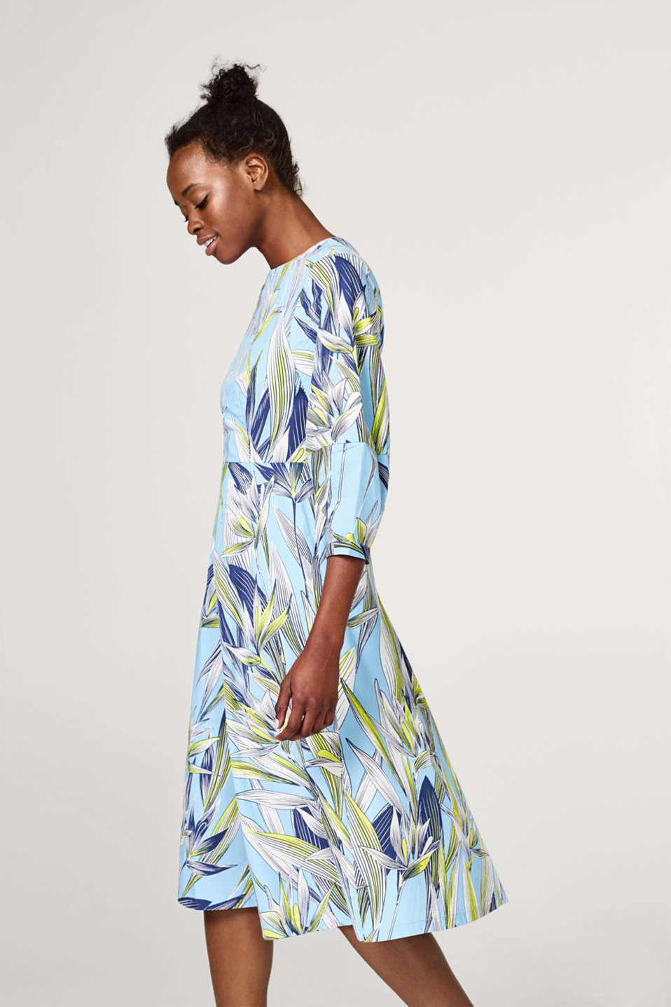 edc - Cotton dress with floral print