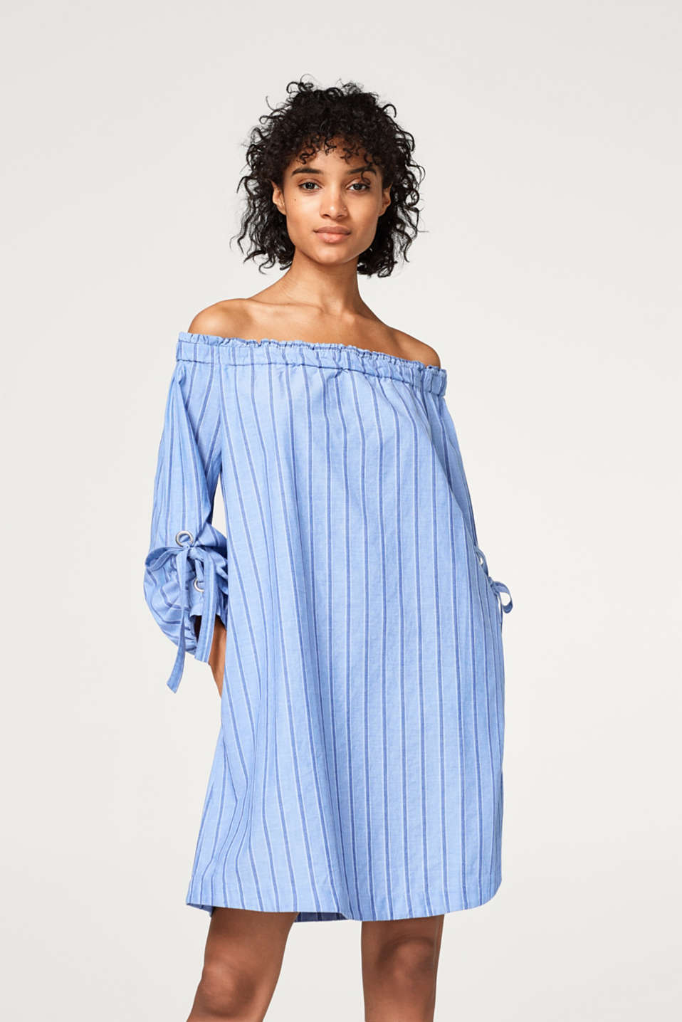 edc - Off-the-shoulder dress in organic cotton