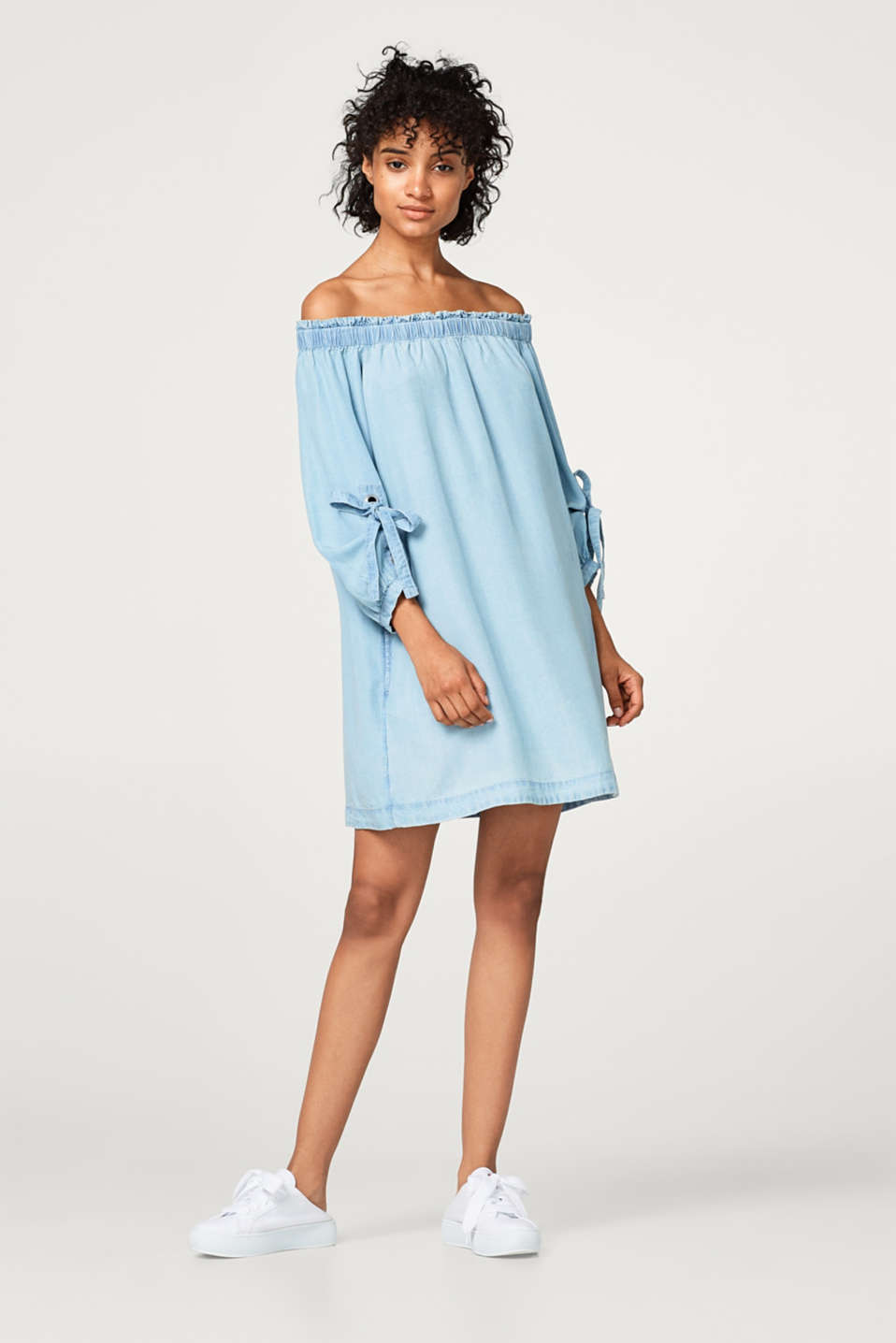 Off-Shoulder-Kleid im Denim-Look