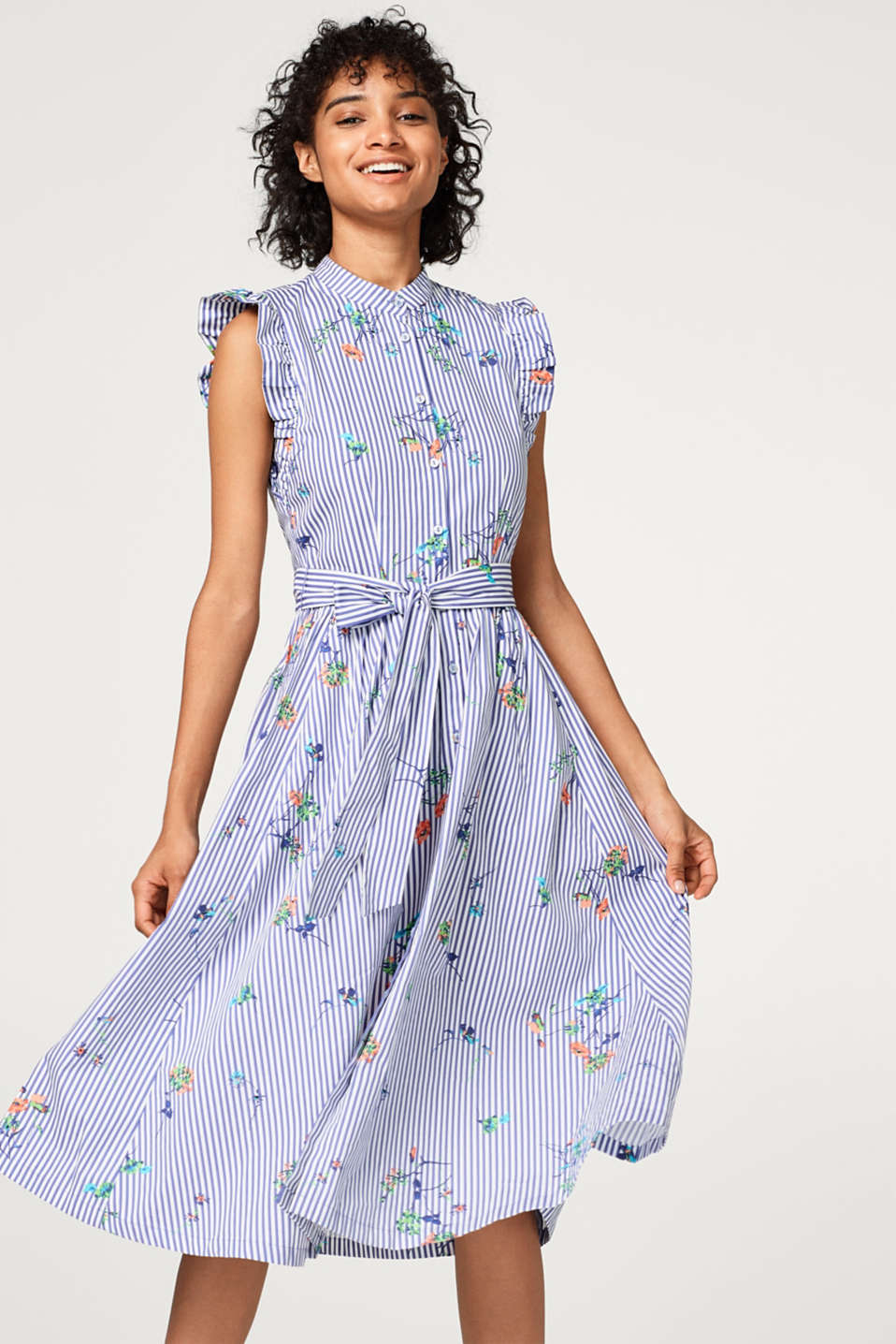 edc - Printed blouse dress in a midi length