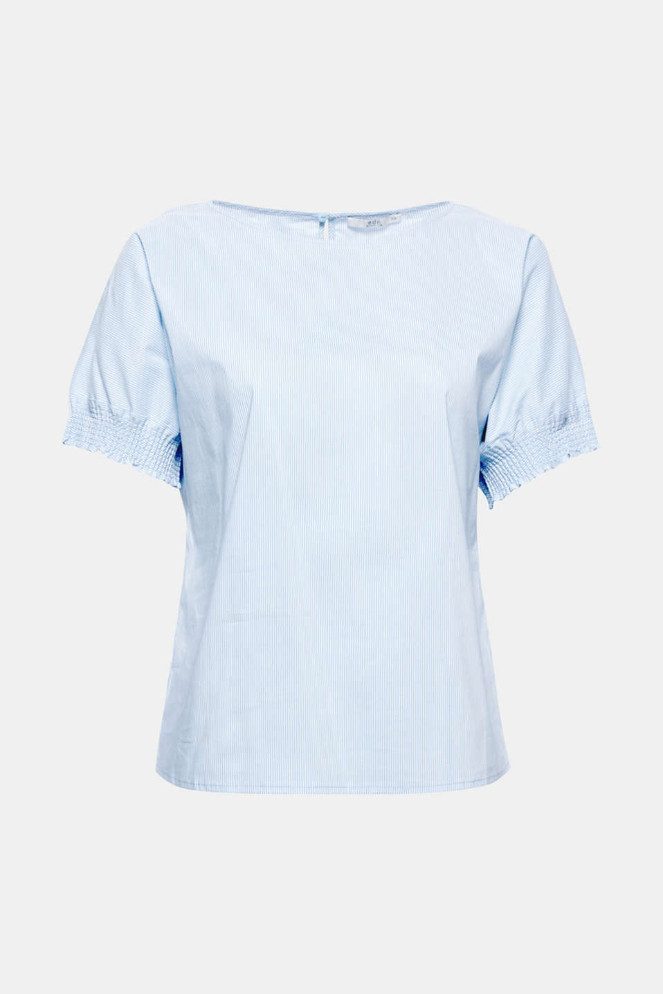 Lightweight, finely striped cotton poplin and an airy, figure-skimming silhouette make this blouse a perfect summer favourite.