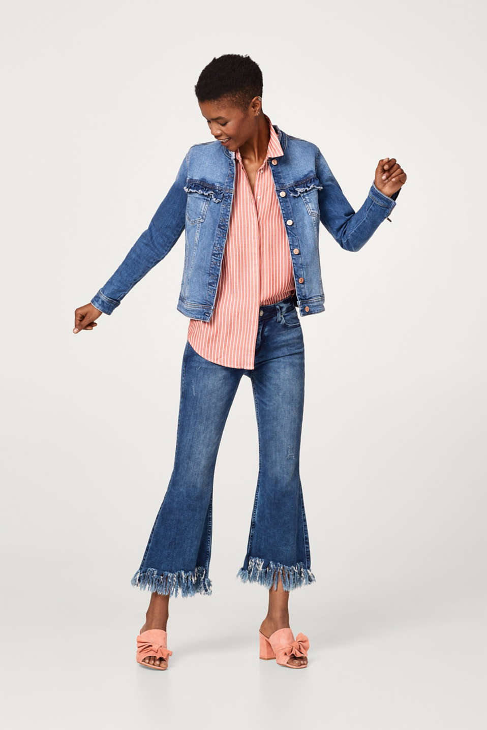 Casual, feminine denim jacket