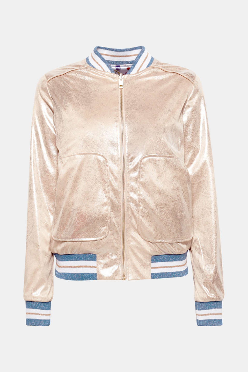 Two trend pieces in one style: this jacket can be worn in a golden metallic or a floral variation.