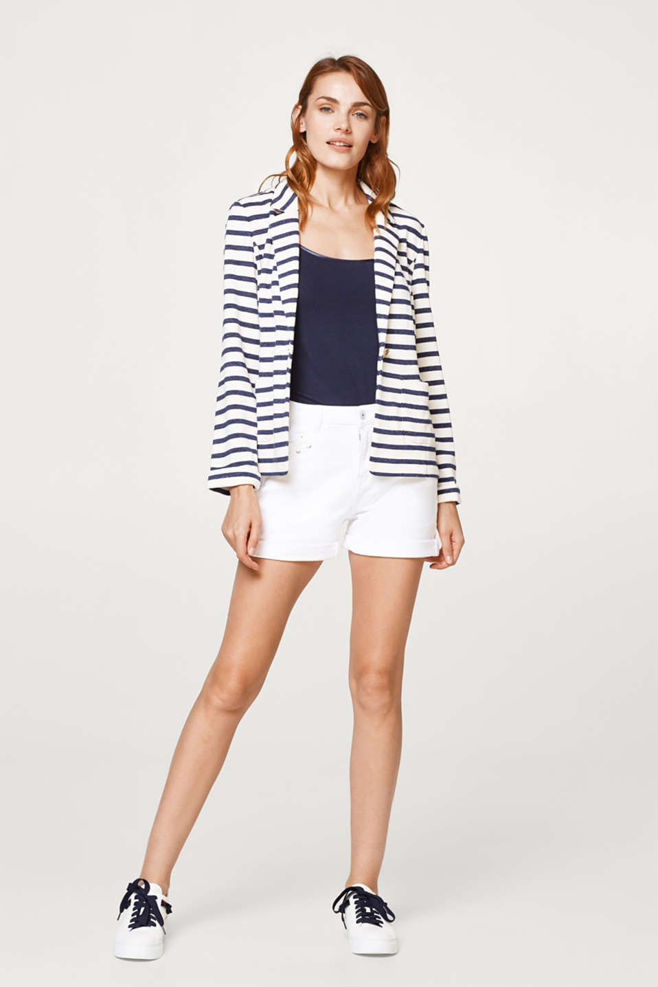 Nautical sweatshirt blazer