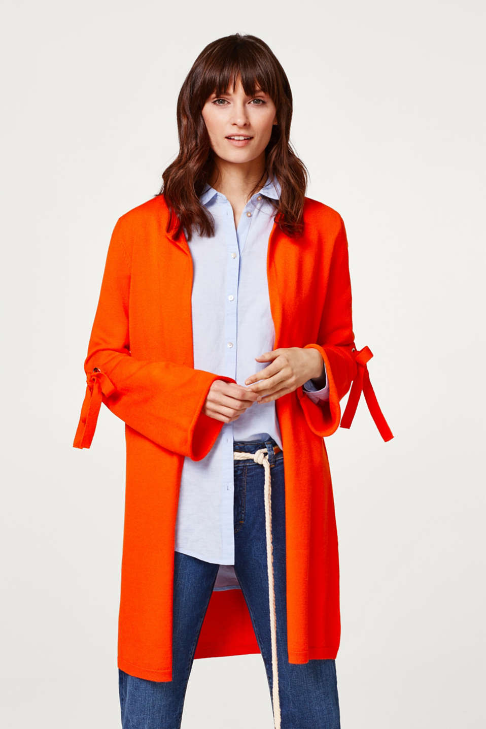 edc - Compact long cardigan with trend sleeves