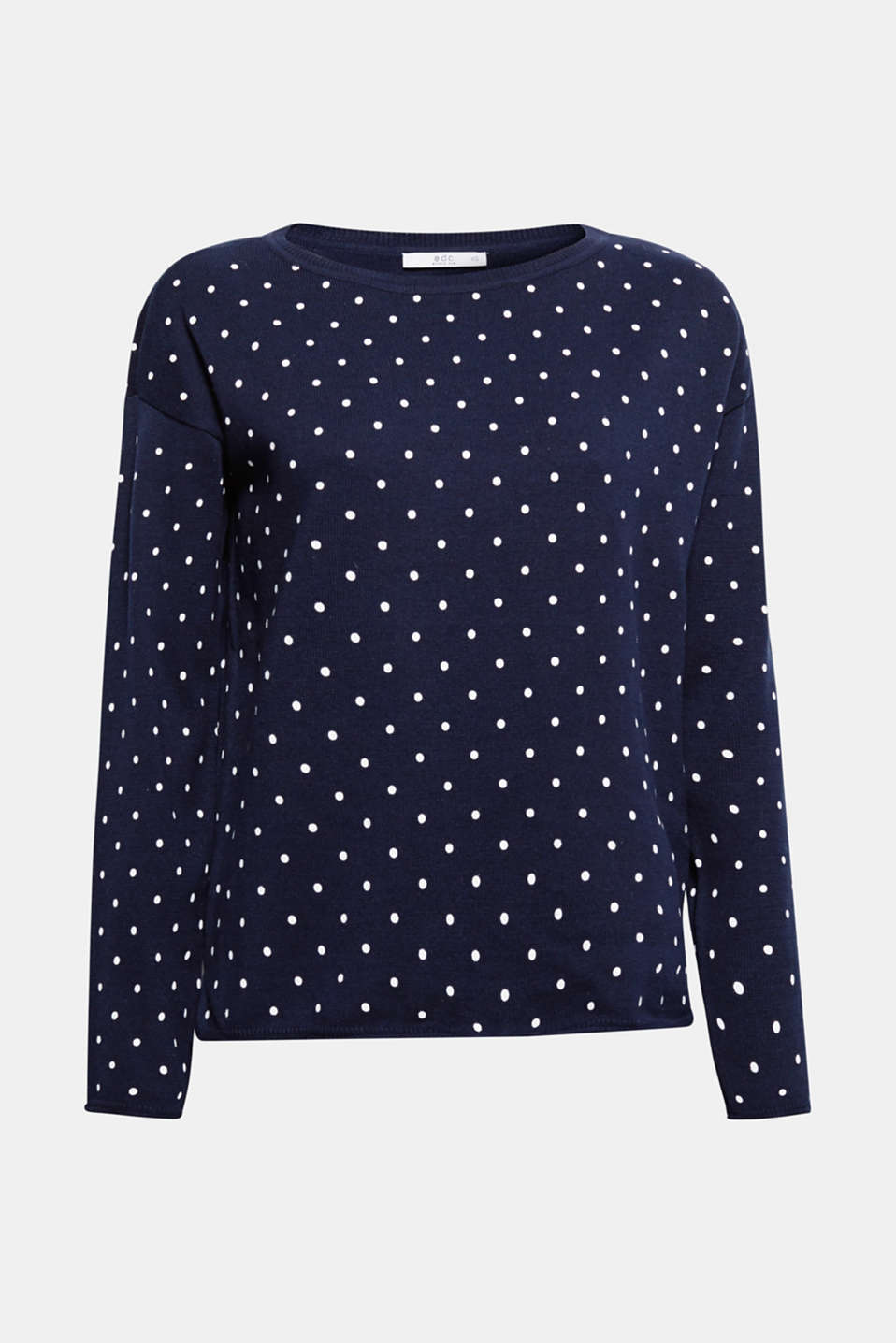 We love polka dots! This jumper is a perfect everyday favourite thanks to the loosely figure-skimming fit, the charming polka dots and the pure cotton fabric.