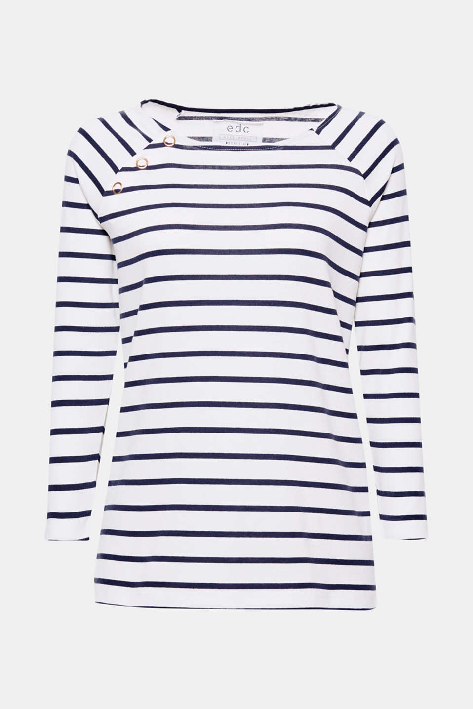 All-time favourite: the soft, shape-retaining ribbed jersey made of stretch cotton and the classic stripes make this top a fashion favourite.