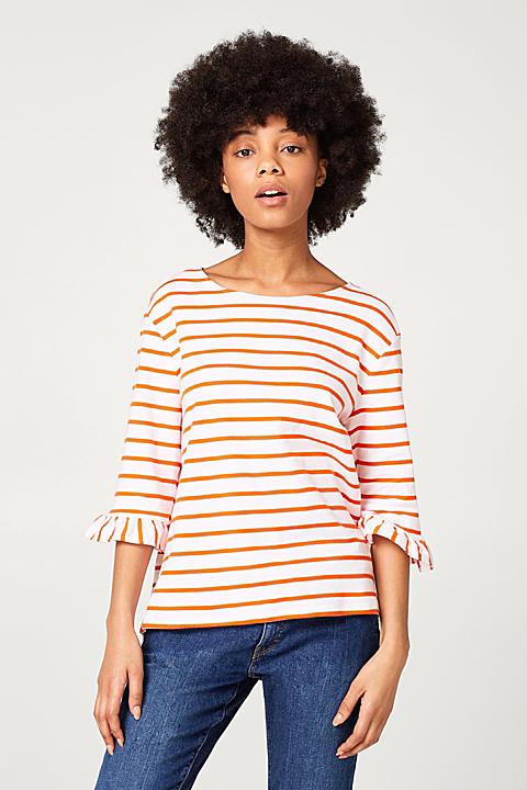 Feminines Streifen-Shirt aus Ripp-Jersey