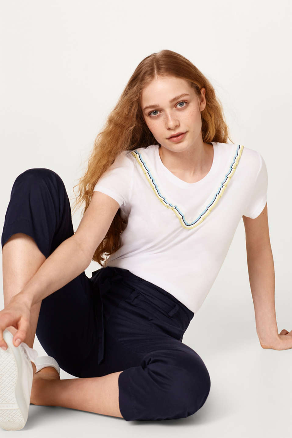 T-shirt with a frill detail