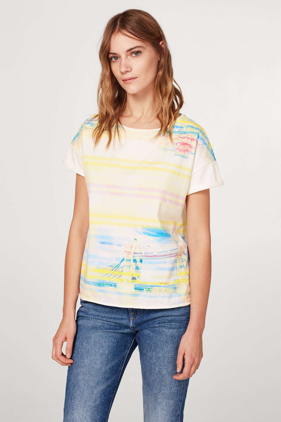 edc - Cotton T-shirt with an all-over print