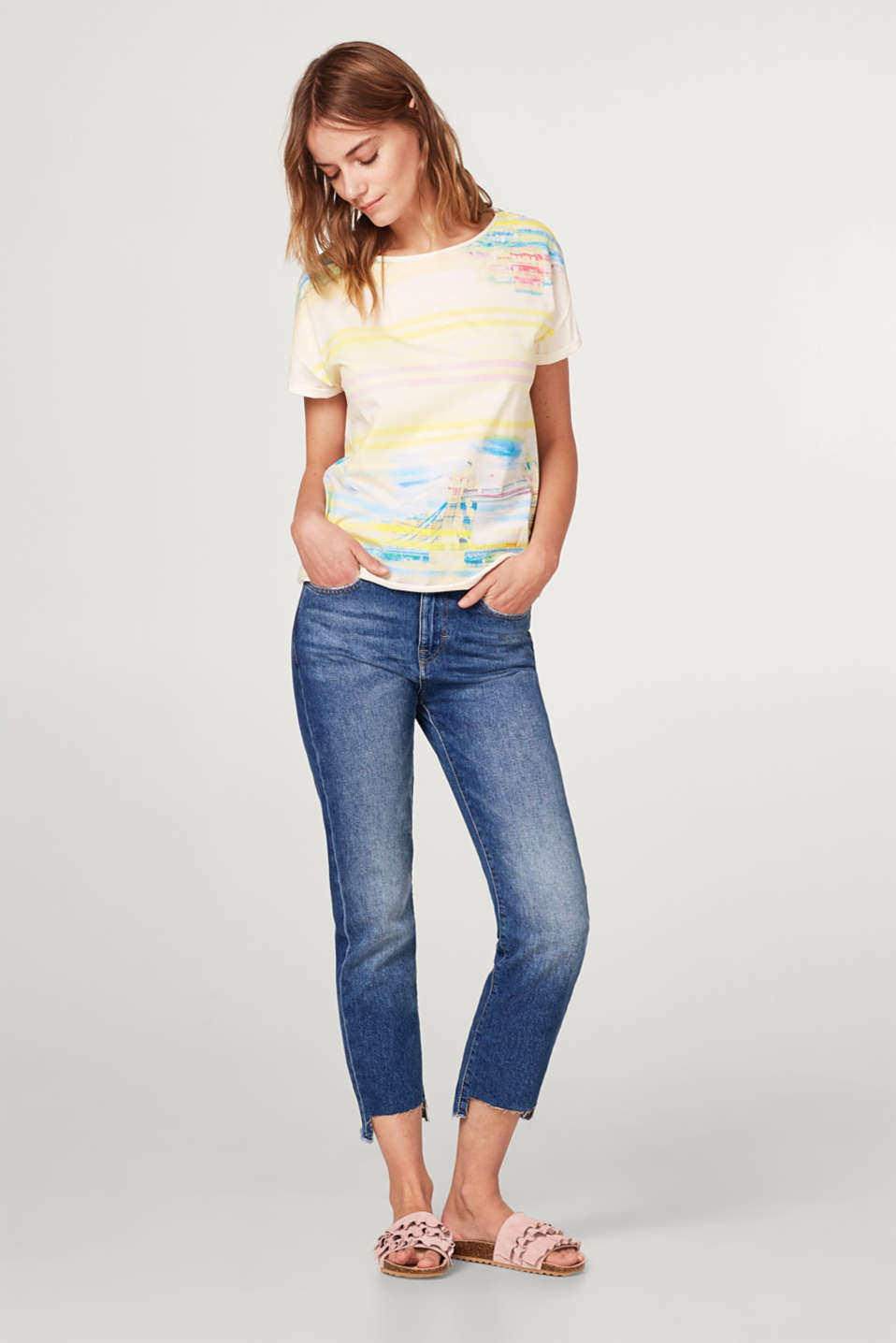 Cotton T-shirt with an all-over print