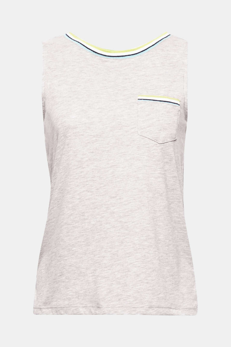 Soft, peached jersey and a sporty ribbed texture make this tank top a perfect everyday favourite.