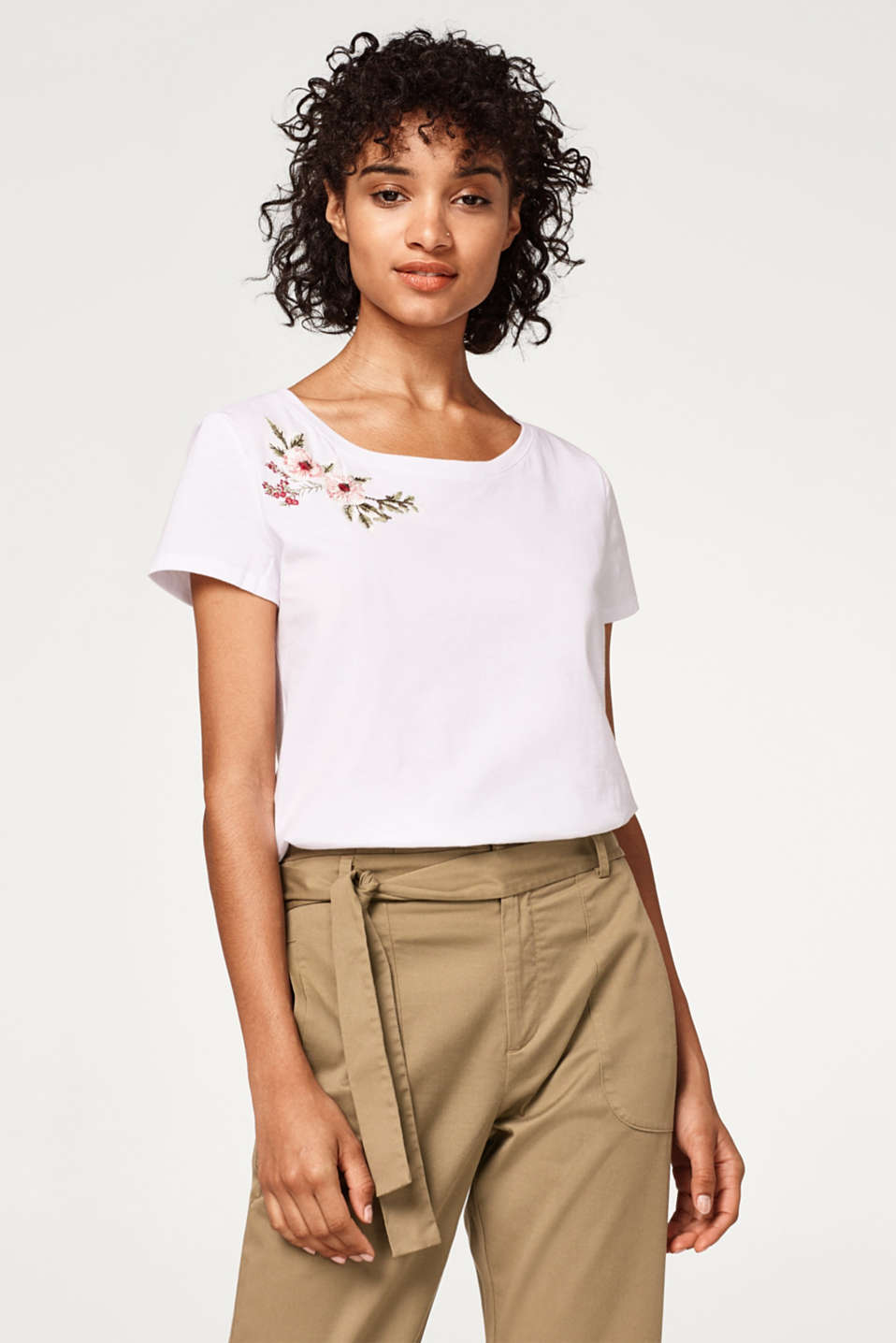 edc - Embroidered T-shirt in cotton