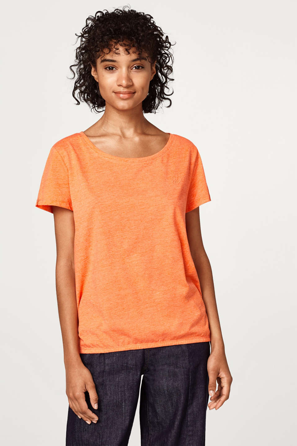 edc - Melange T-shirt with elasticated hem