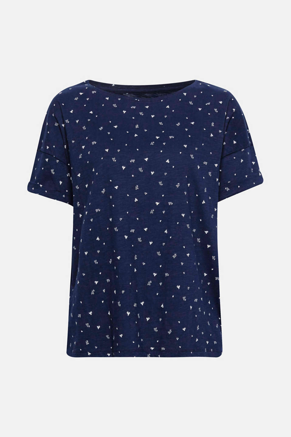 The soft slub jersey made of pure cotton and charming print make this T-shirt a style favourite for everyday wear.
