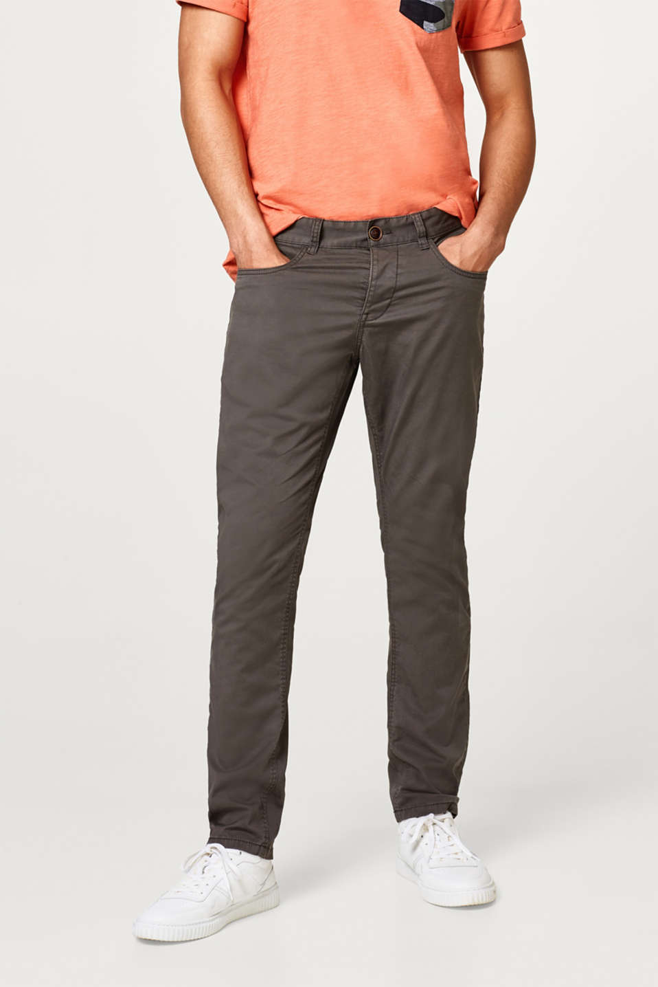 edc - Five-pocket trousers in cotton with added stretch for comfort