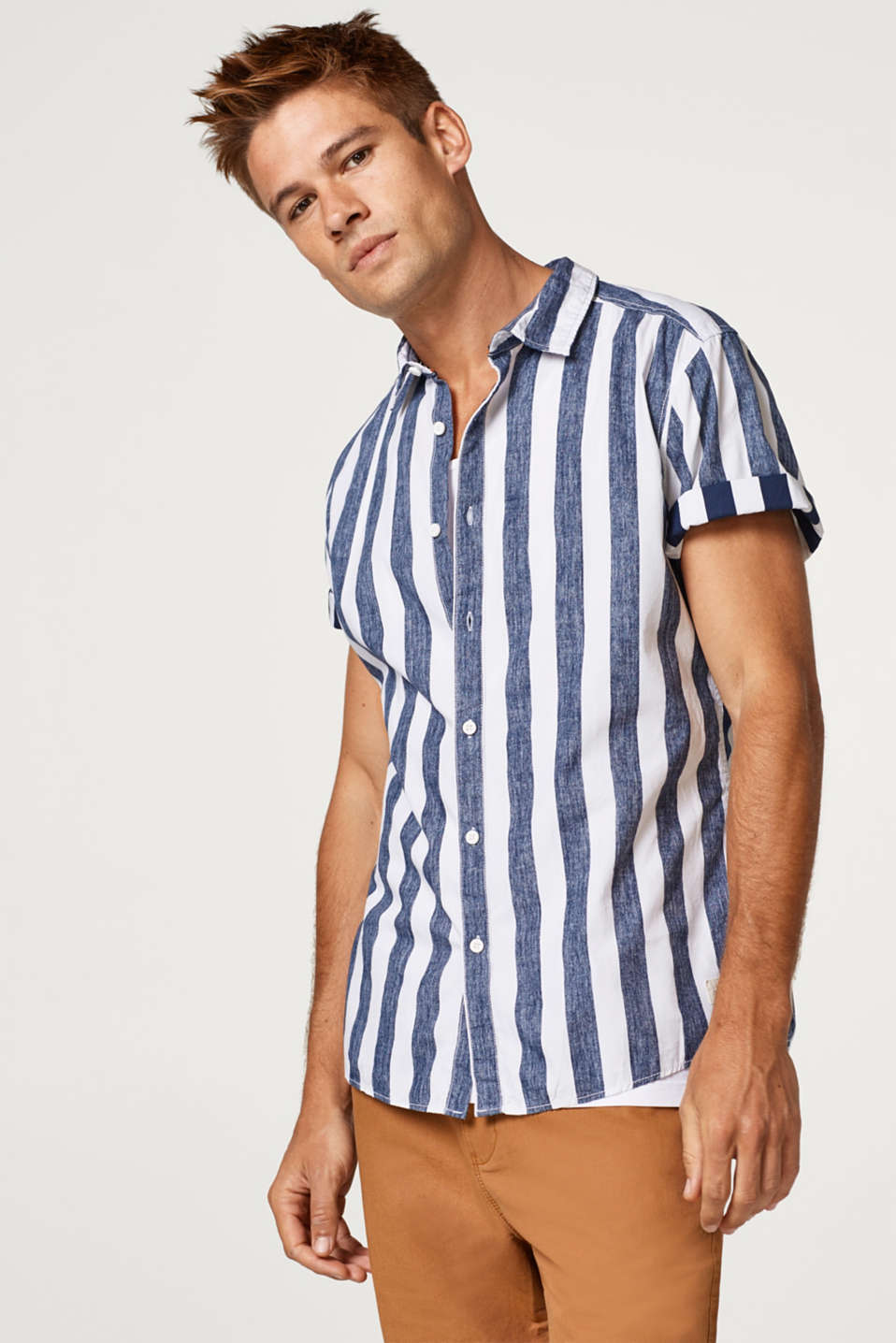 edc - Short sleeve shirt with an inside-out print, in cotton